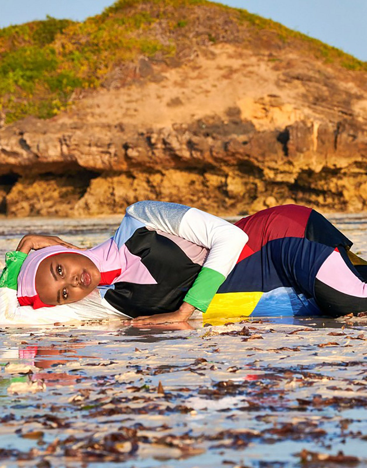 Prism Colorblock Burkini in Sports Illustrated