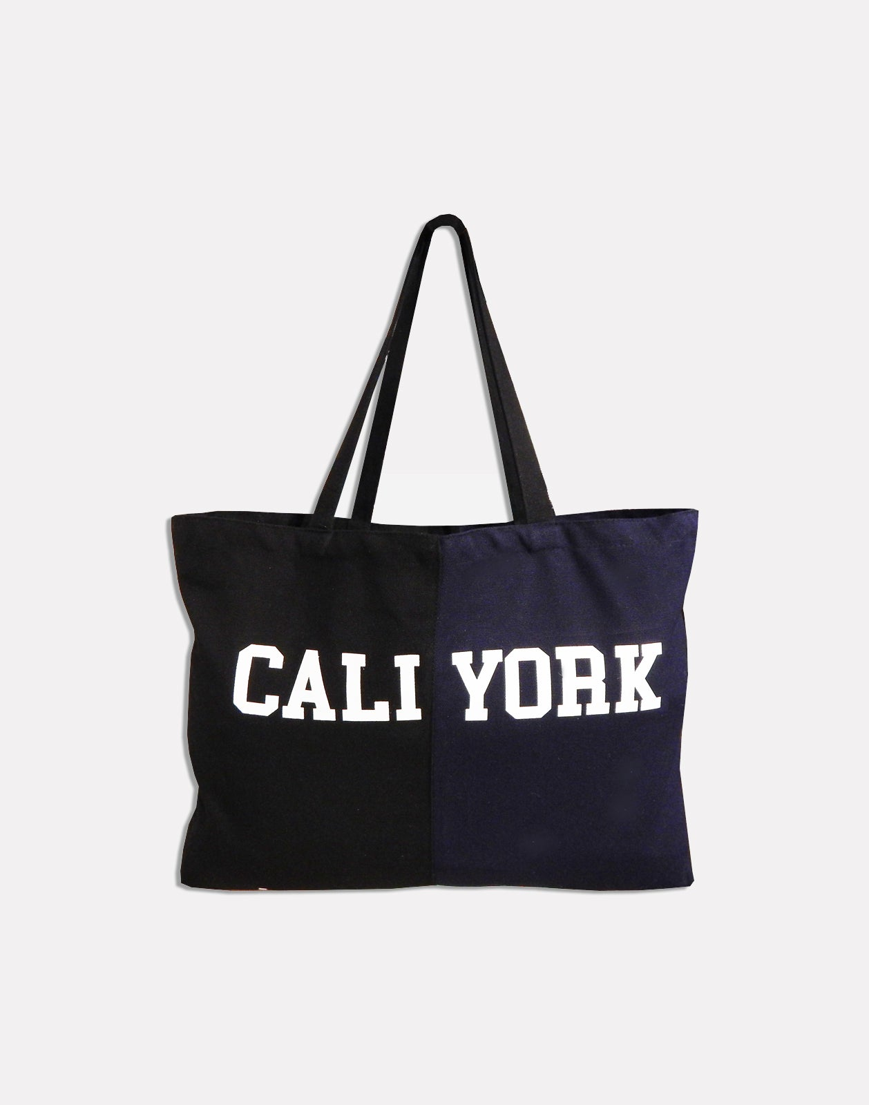 CaliYork canvas tote with top handles
