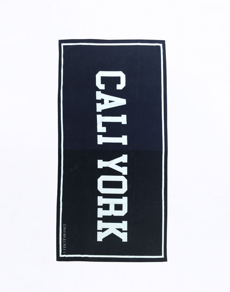 Product image of navy and black CaliYork towel