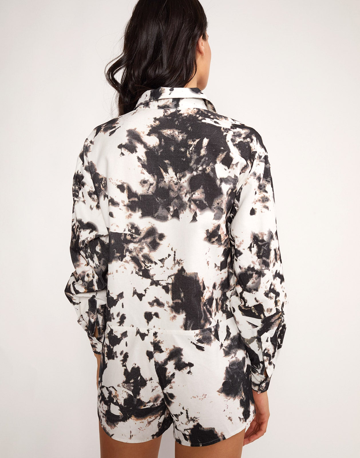 Back view of the Hendrix Tie Dye Romper