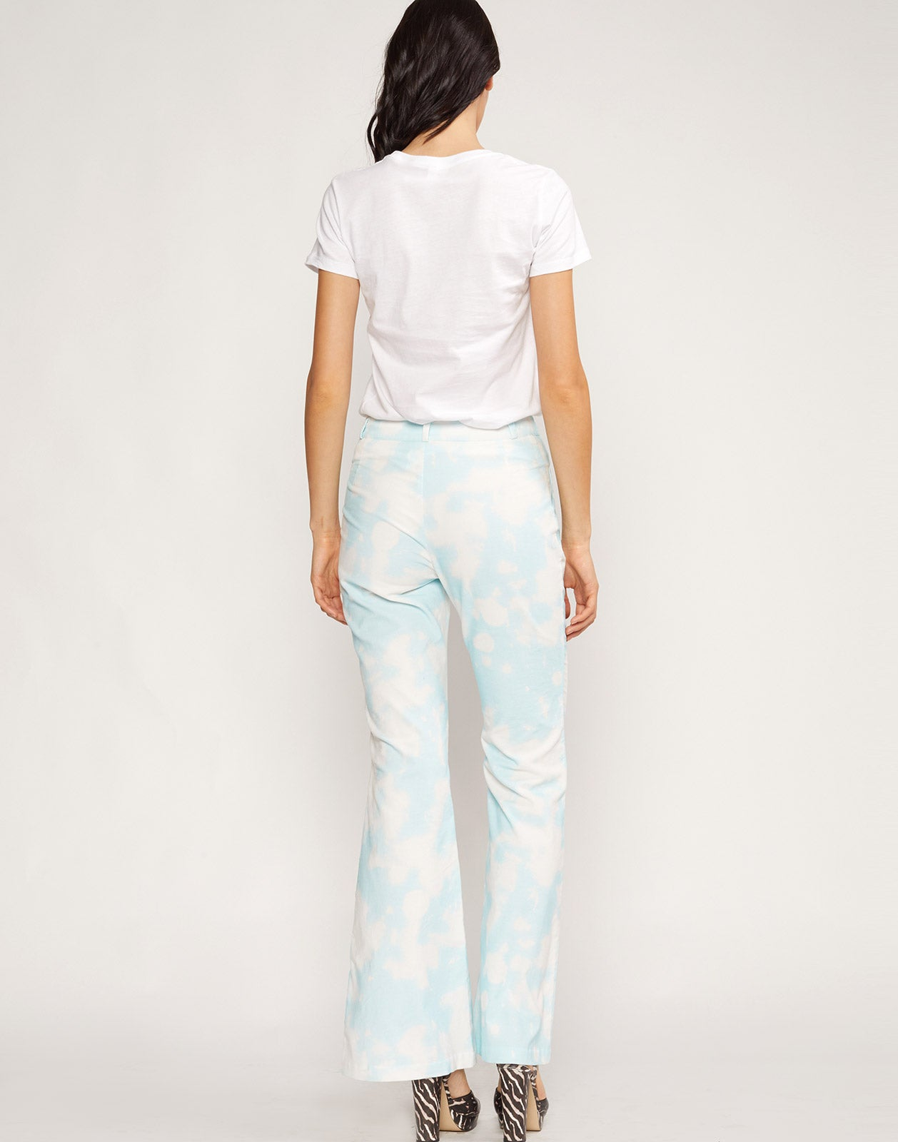 Back view the James Tie Dye Flares