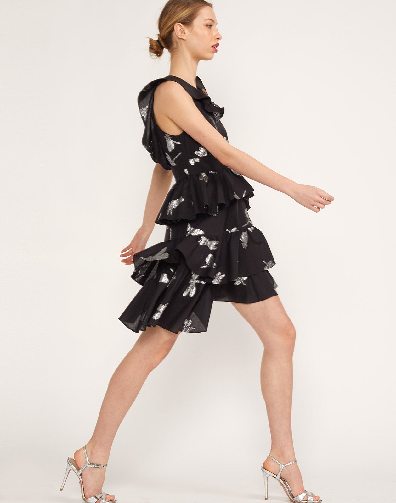 Side view of the Jetset Dragonfly Mini Dress