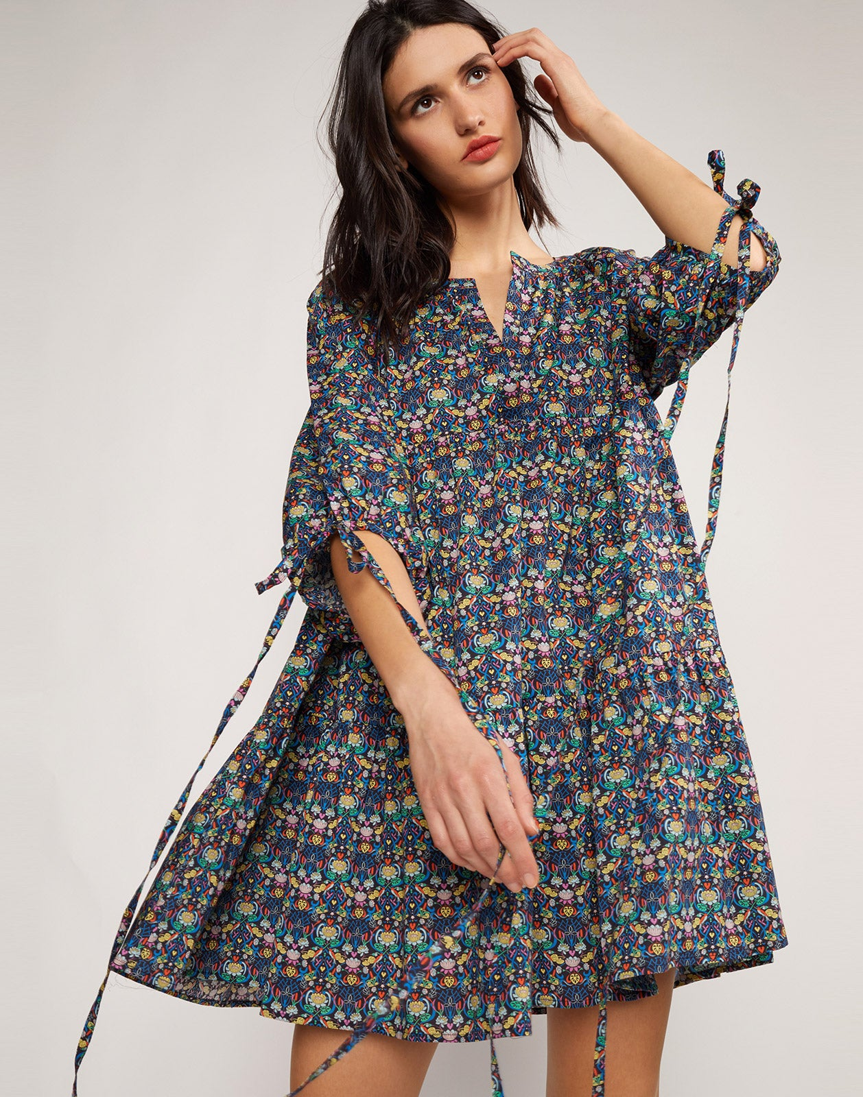 Penelope Dark Floral Dress