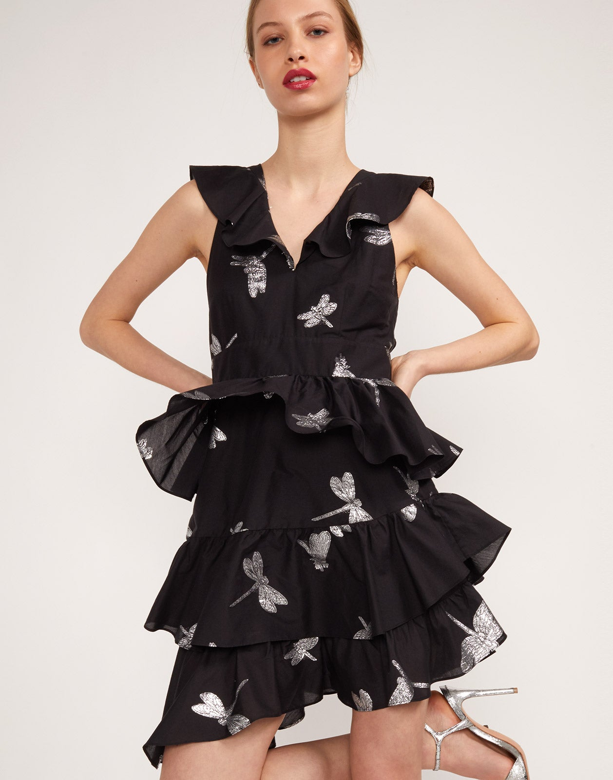 Front view of the Jetset Dragonfly Mini Dress