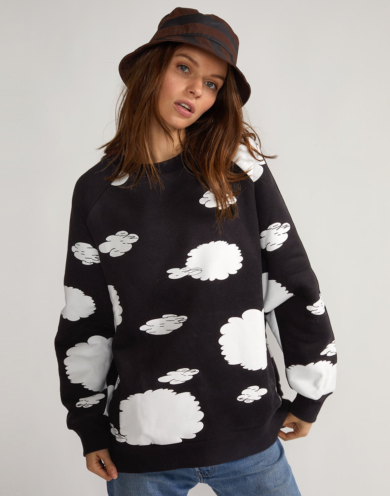 Cloud print sweatshirt from the Rowley x Melet capsule collection.