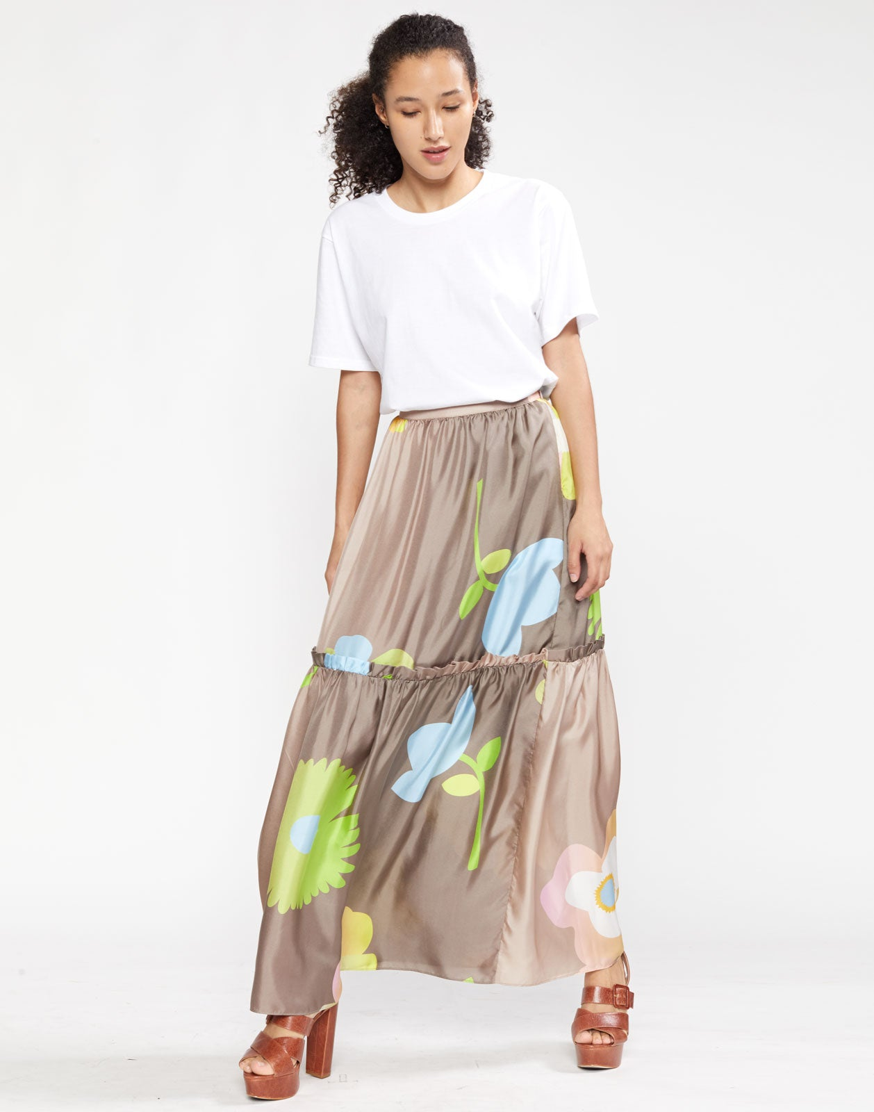 Ashley Pop Floral Long Skirt