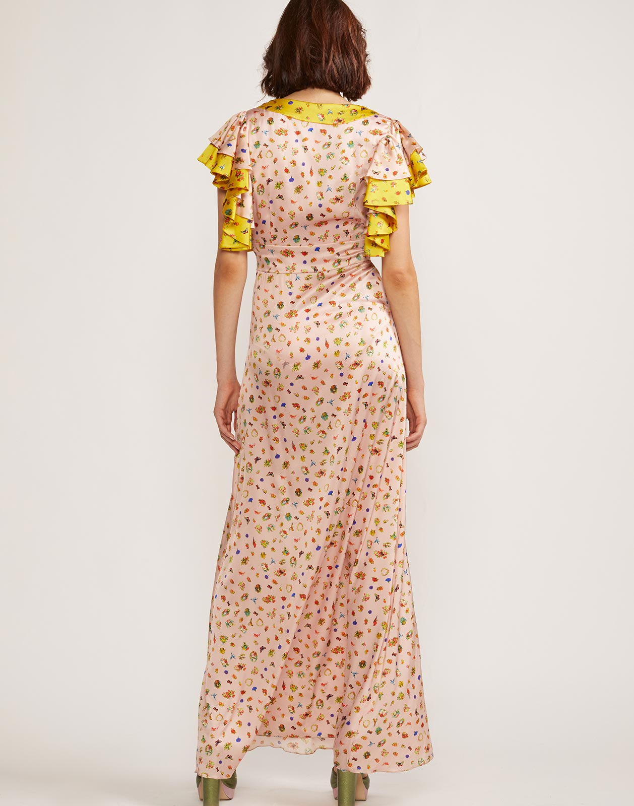 Pamela Flutter Sleeve Maxi Dress