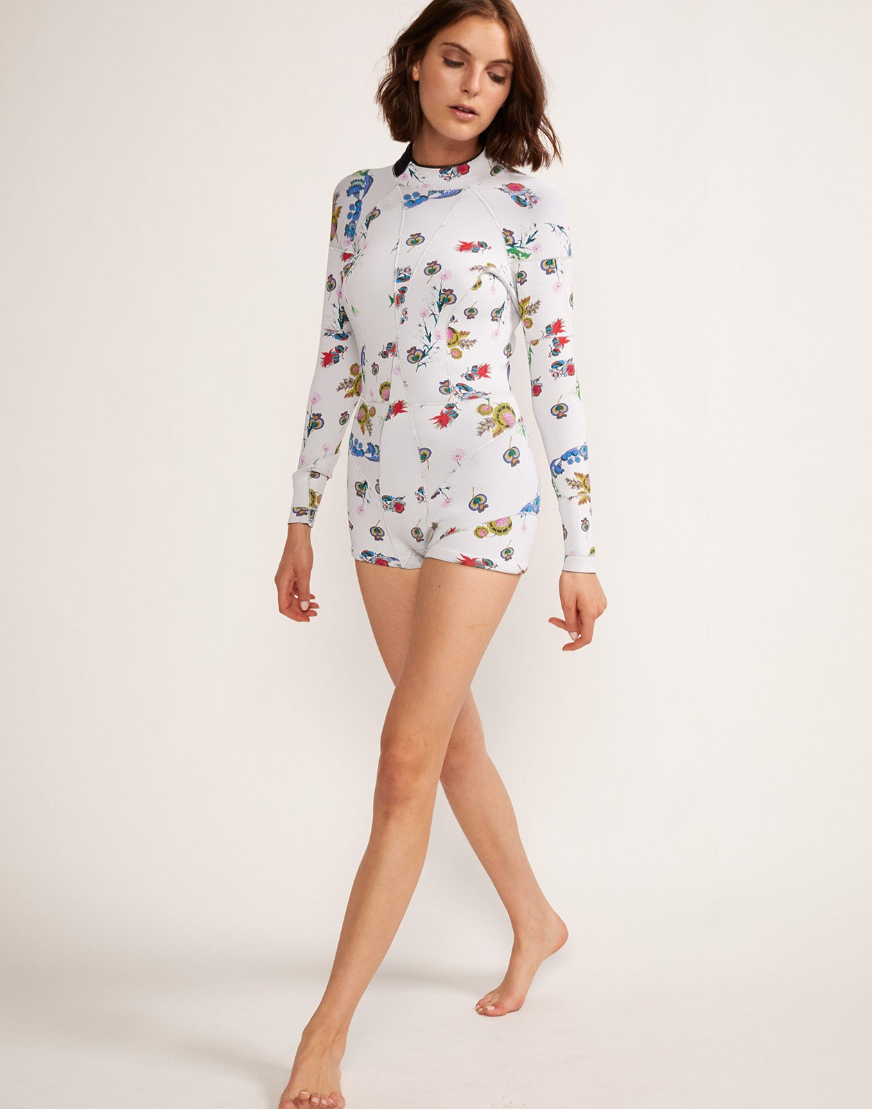 Full view of the Garden Floral High Tide Wetsuit