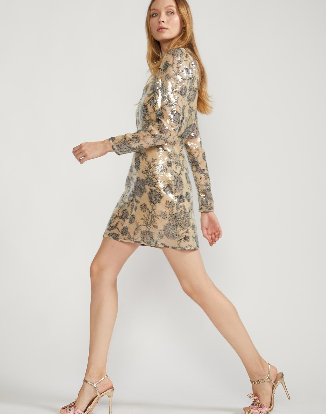 Malia Sequin Shirt Dress