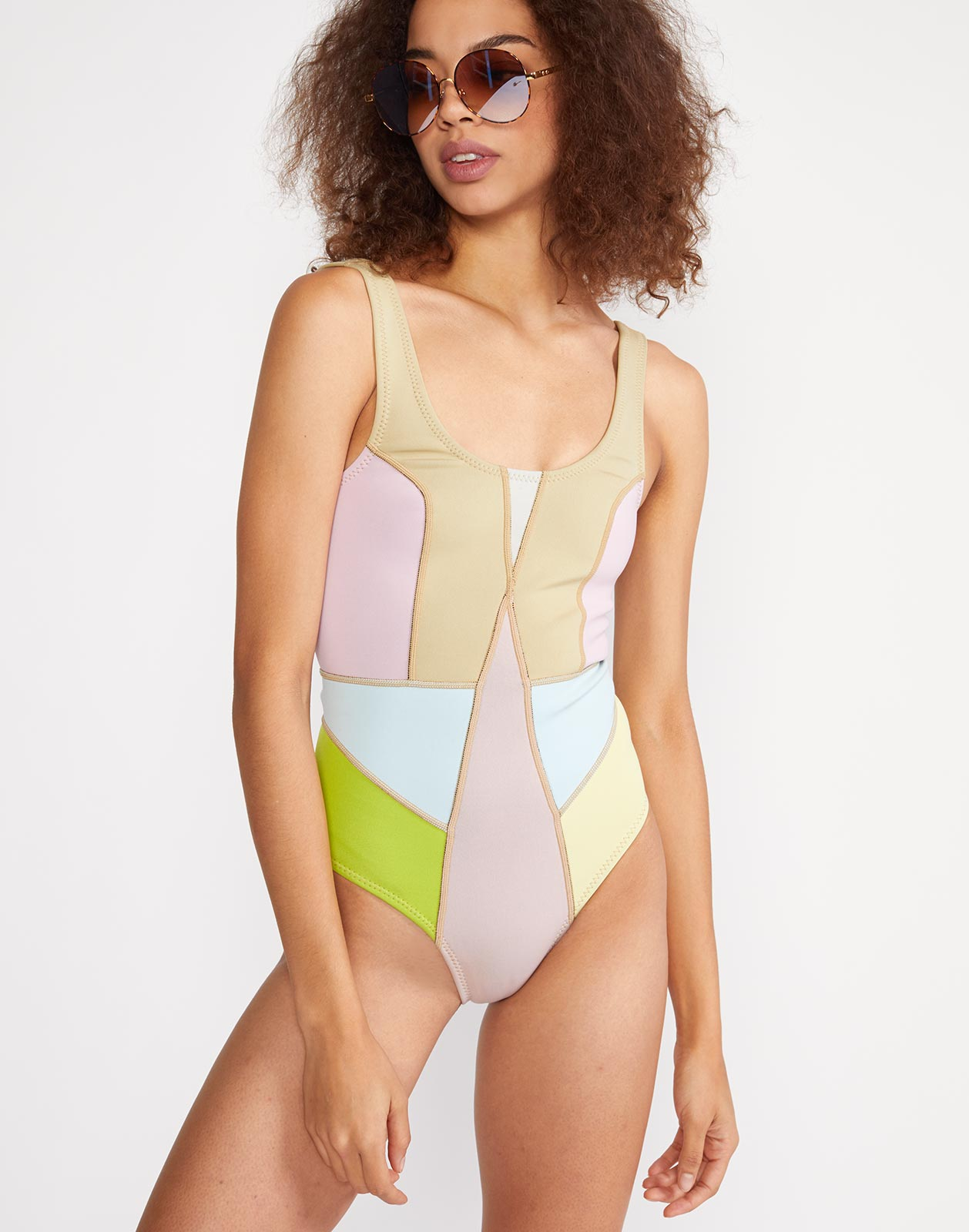 Kalleigh Colorblock Neoprene One Piece