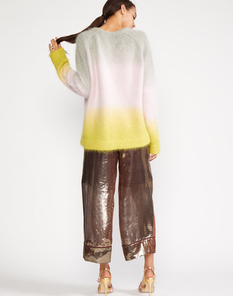 Back view of the Taylor Ombre Angora Sweater