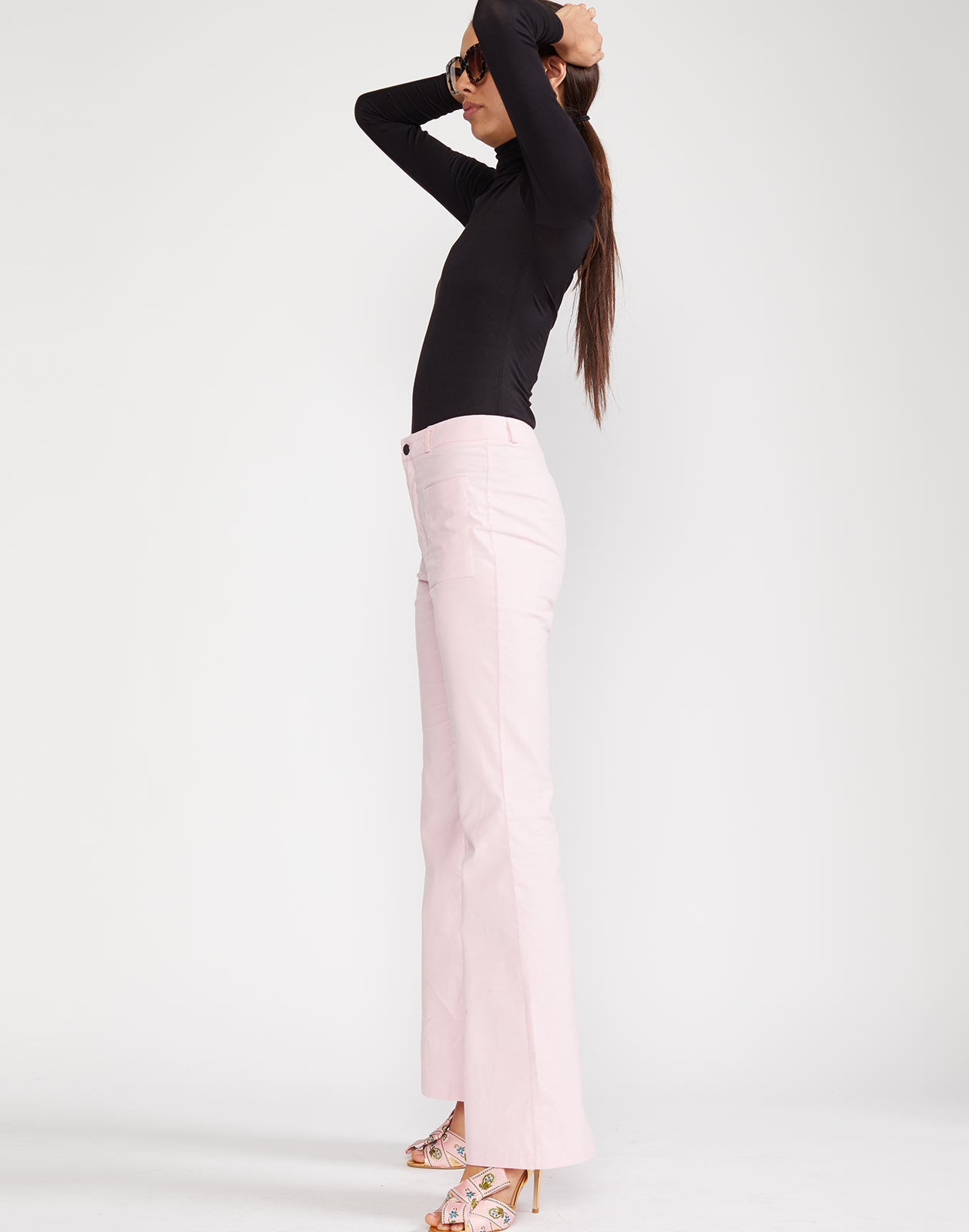 Side view of Blake Corduroy Pant in pink