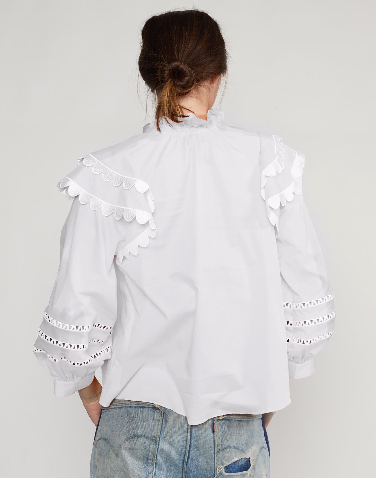 Elia Scallop Embroidered Top