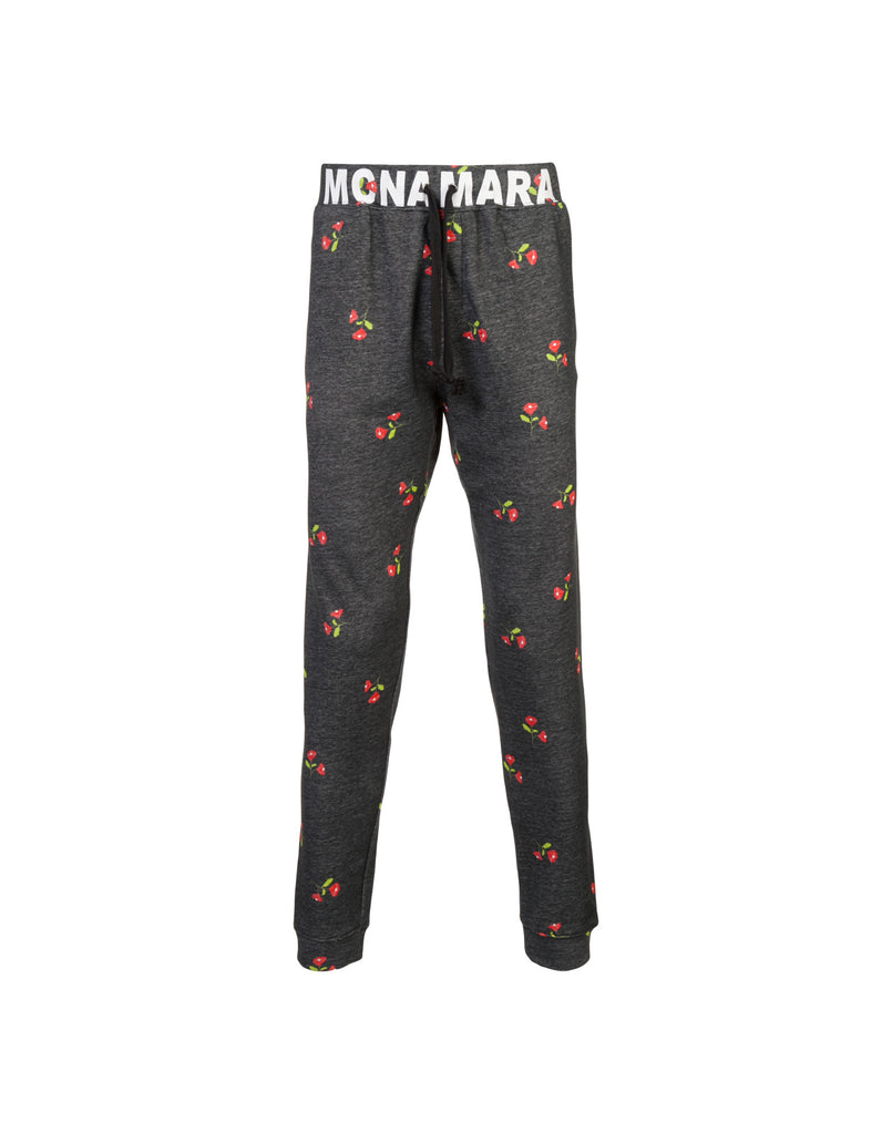 Grey jogger pants with floral print and MCNAMARA printed waistband.