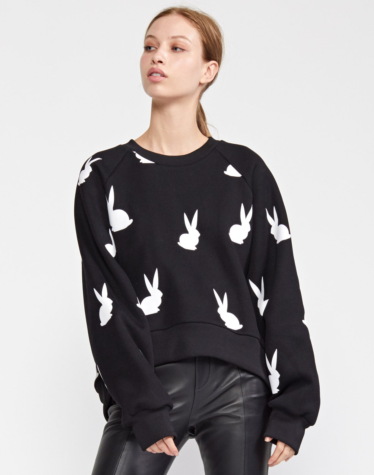Flynn Flocked Bunnies Sweatshirt