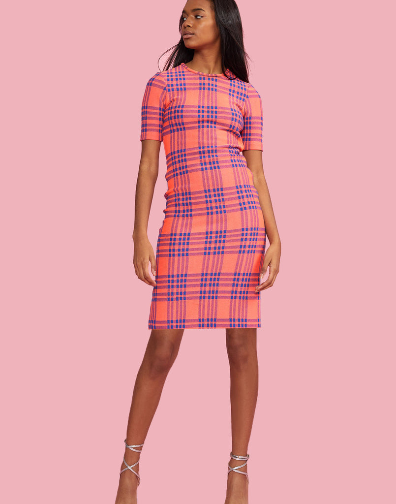 Harper Stretch Plaid Dress