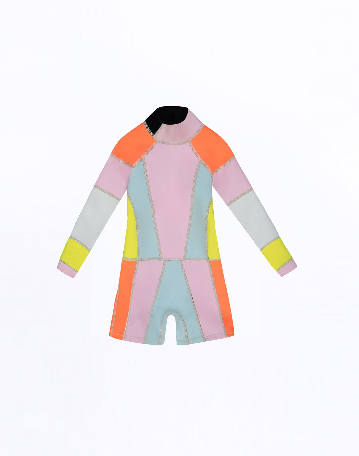 Kid's colorblock wetsuit product image.