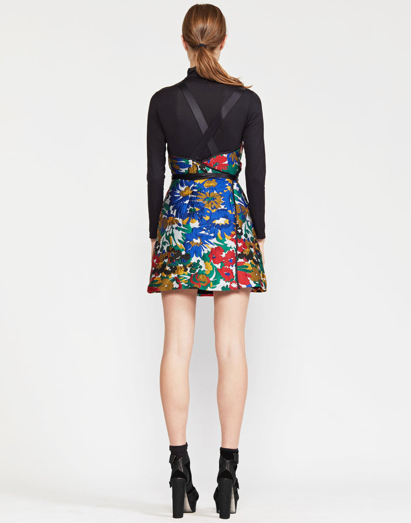 Mackenzie Floral Jacquard Short Dress