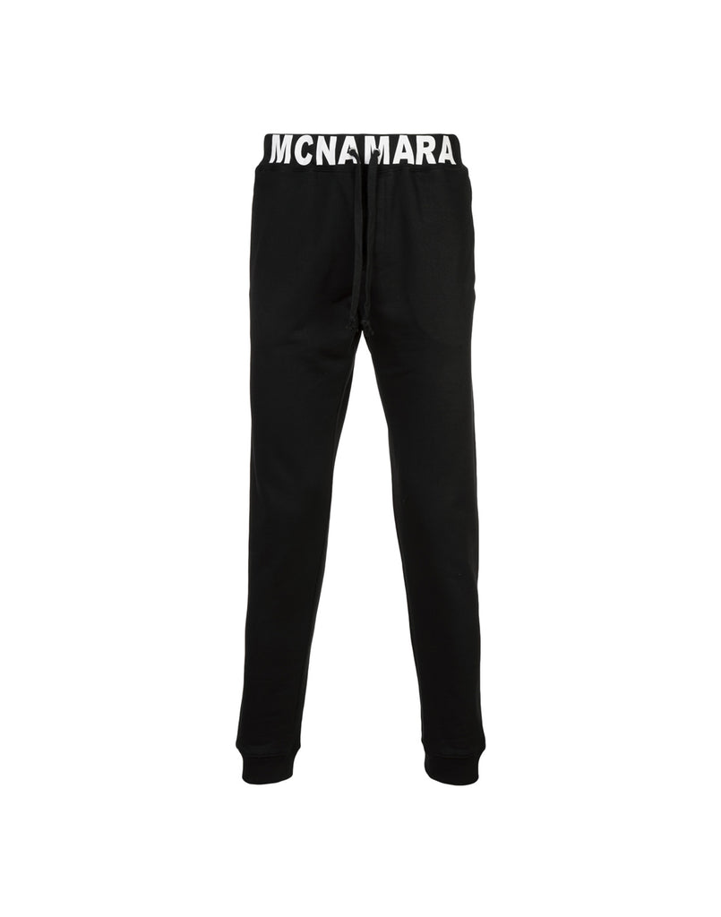 Black jogger pant with MCNAMARA waistband.