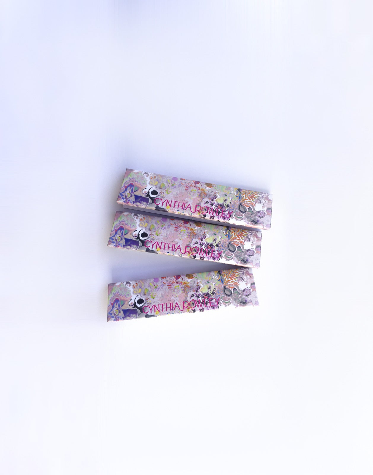 Light Floral print rolling papers set of 3.