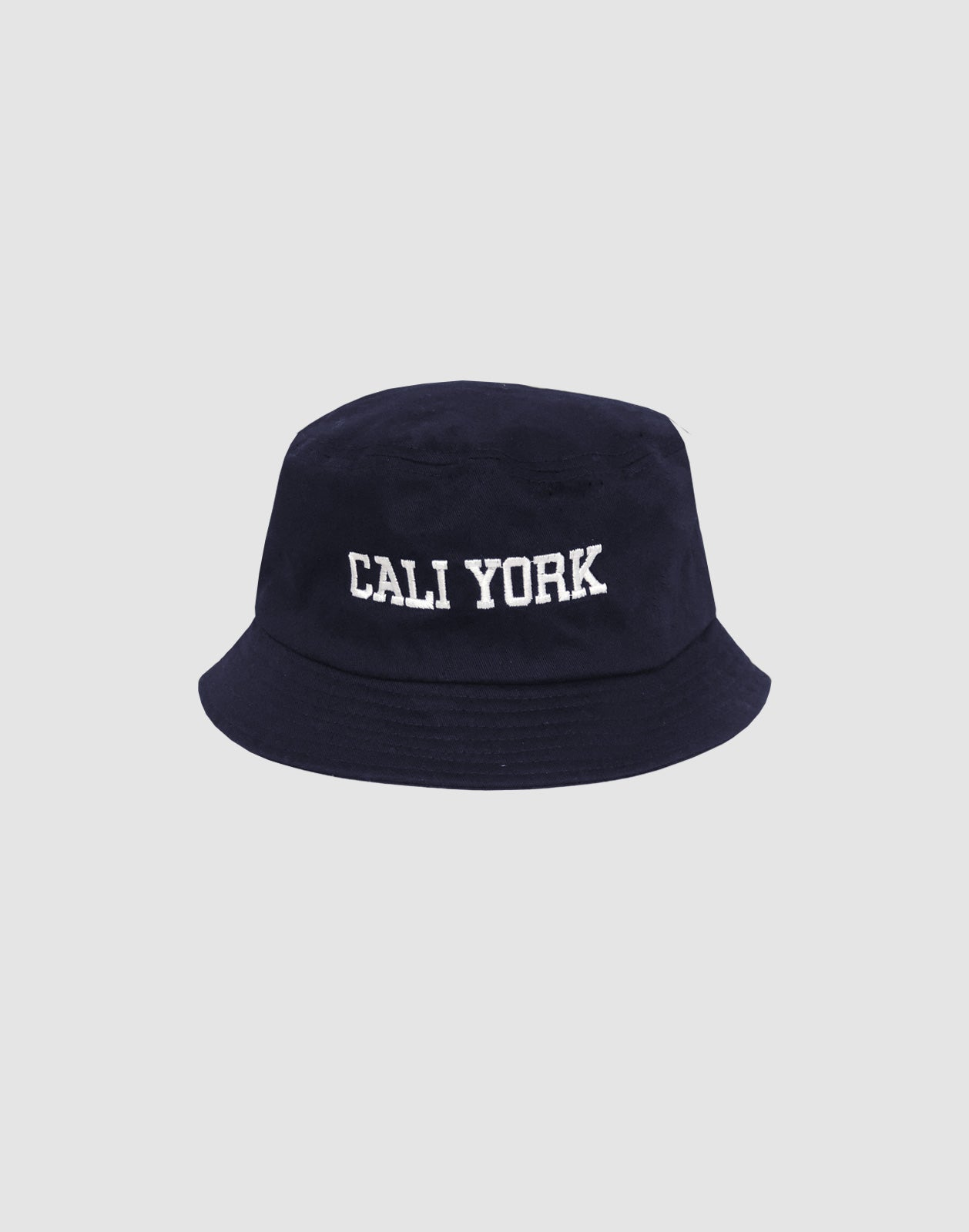 CaliYork Bucket hat in navy cotton twill.