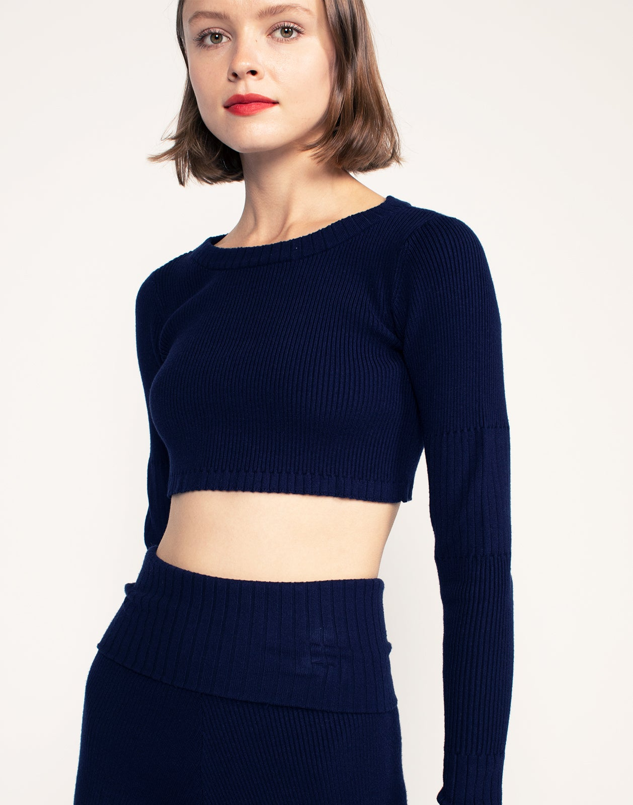 Noah Rib Knit Cropped Top