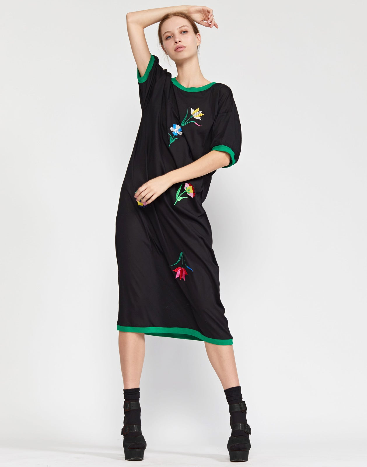 Rhyse Embroidered T-Shirt Dress