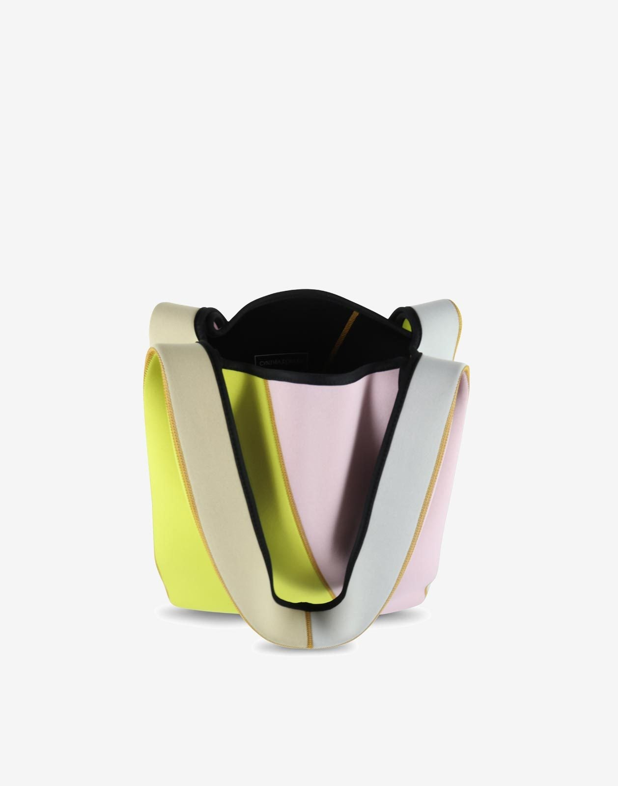 Colorblock Neoprene Shopper Tote Bag