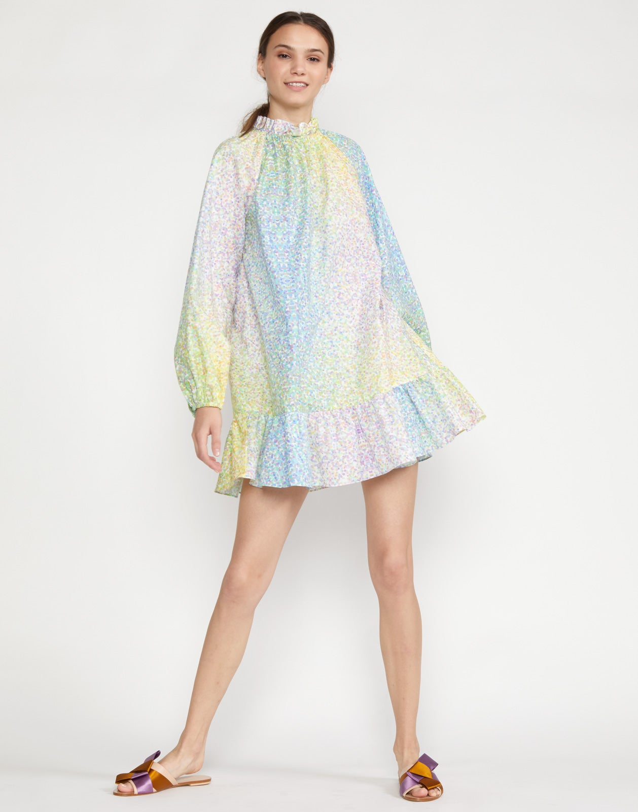 Mona Cotton Flounce Dress