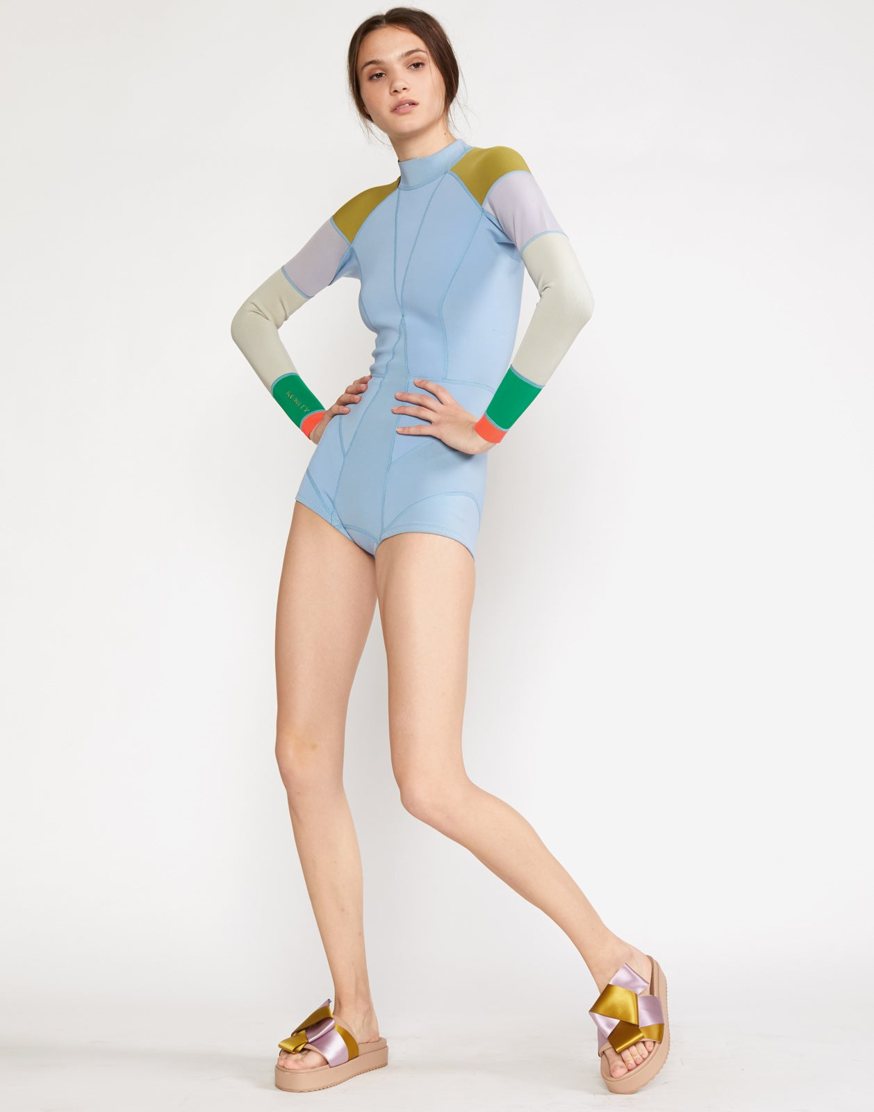 Light Blue Lightweight Colorblock Wetsuit