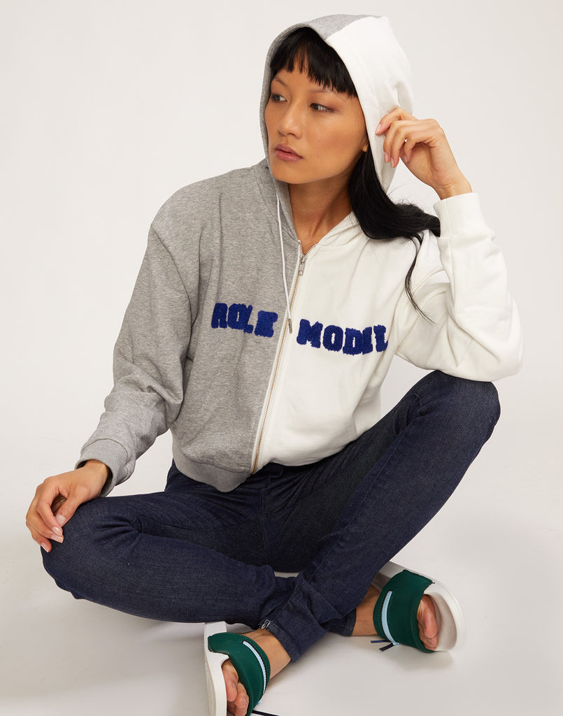 Role Model Embroidered Hoodie sweatshirt