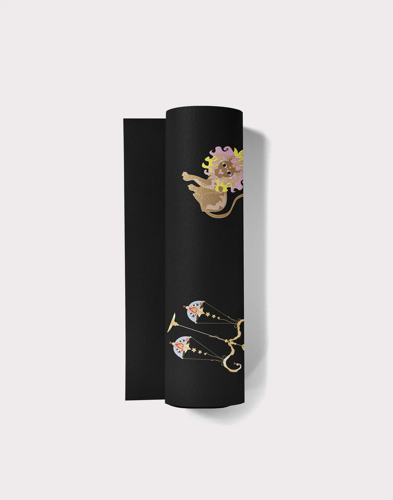 Rolled up Zodiac Yoga Mat