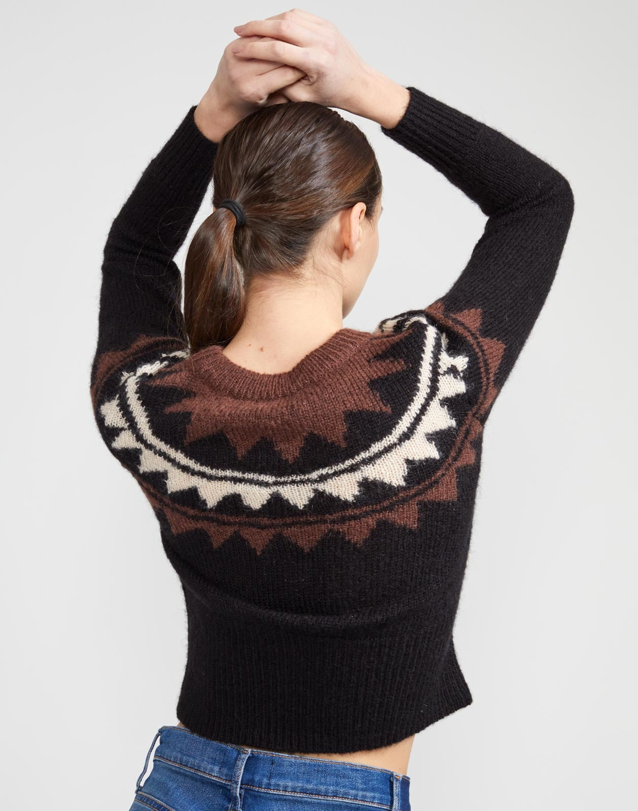 Aspen Intarsia Knit Sweater