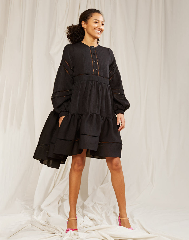 Roma Lace Trim Dress