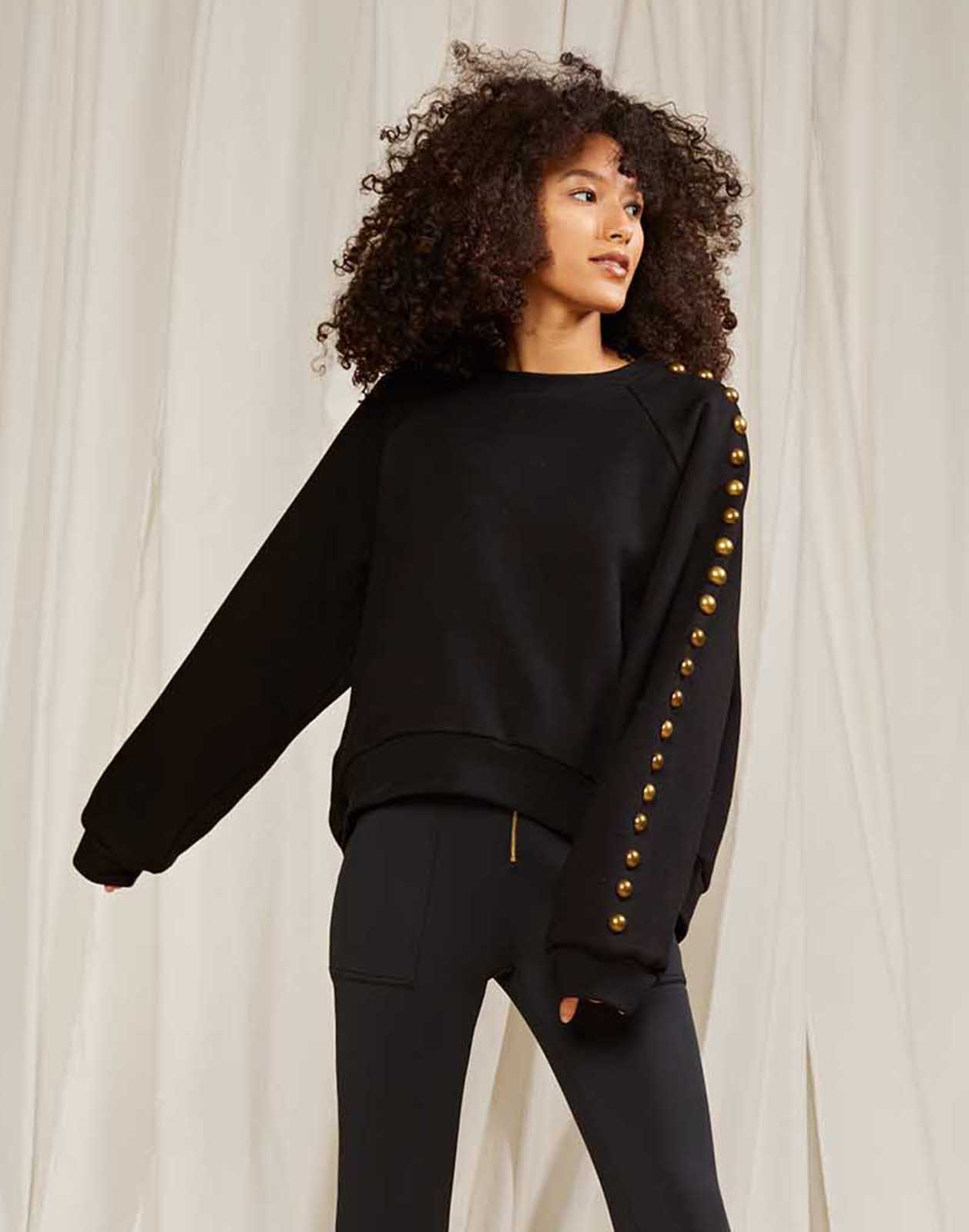 Saturday Studded Sweatshirt