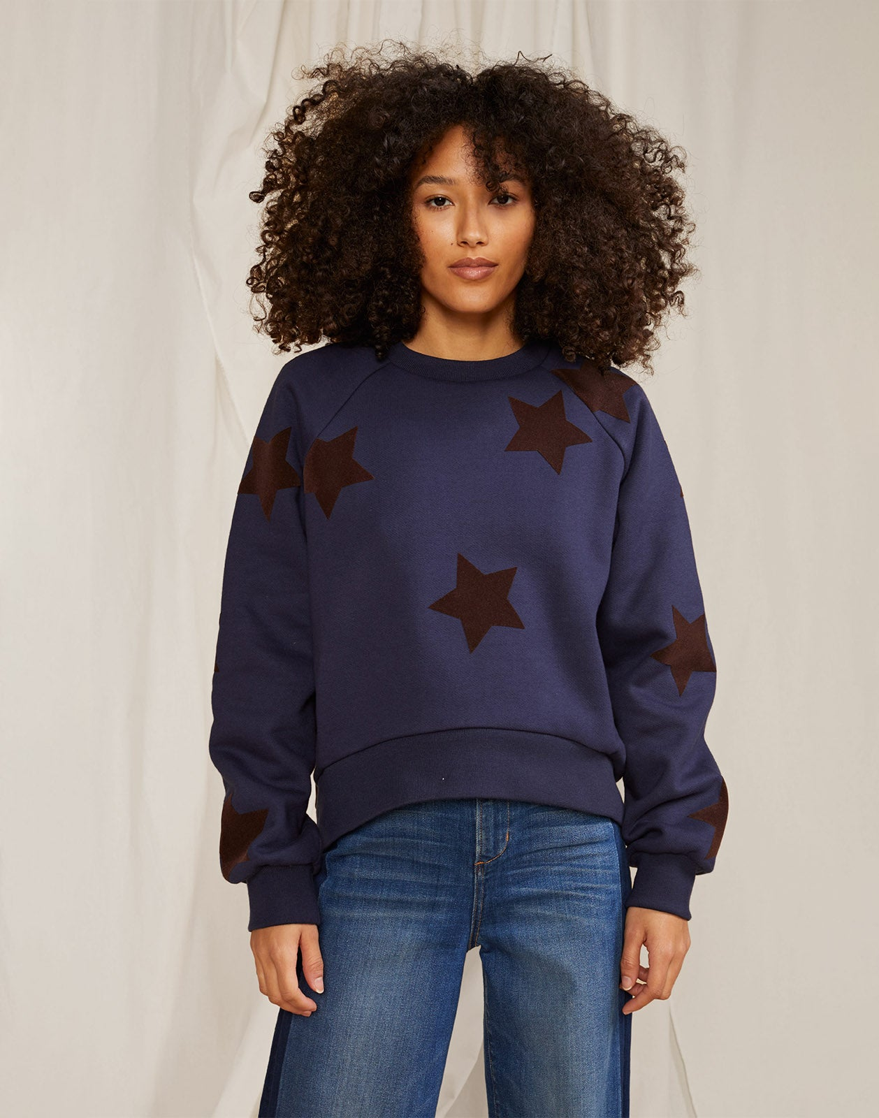 Lucky Stars Flocked Sweatshirt