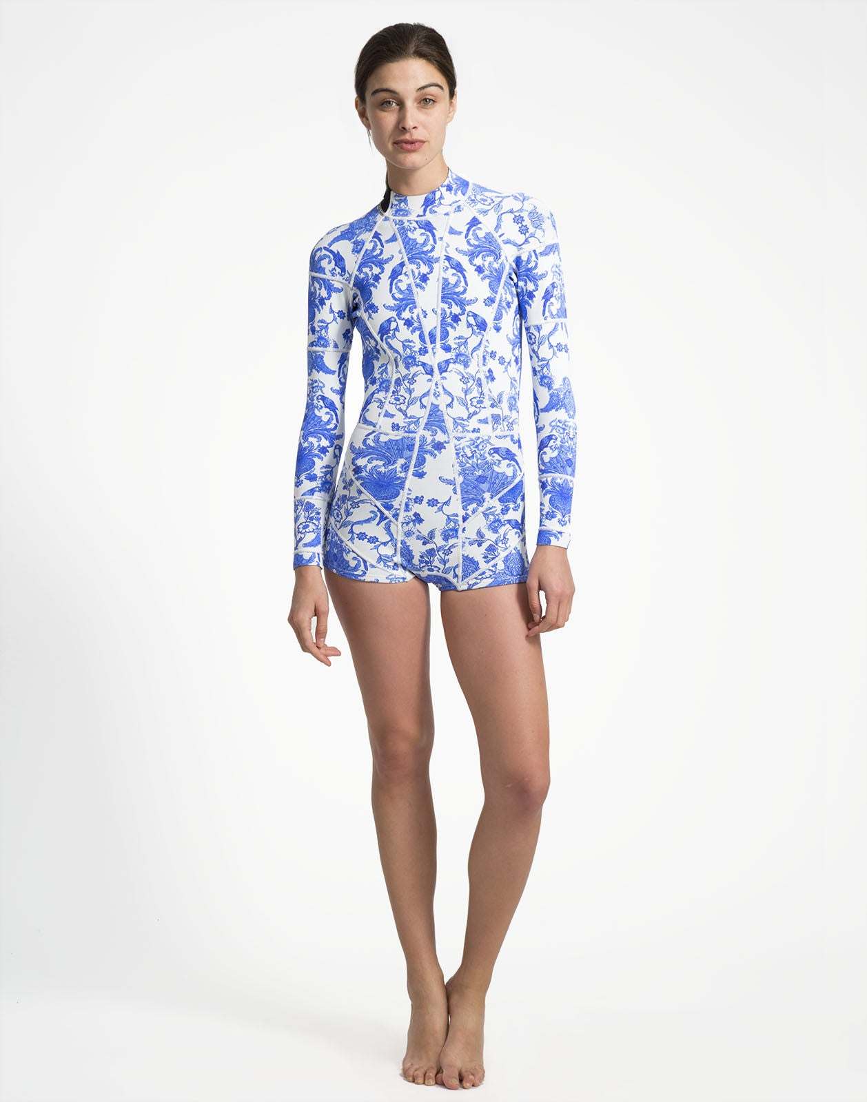 Blue China Print Wetsuit