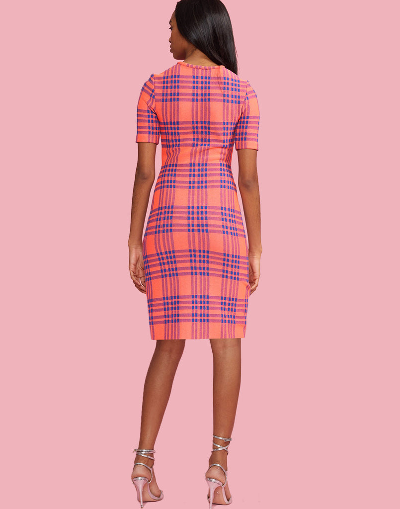 Harper form fitting dress with stretch, falls above knee