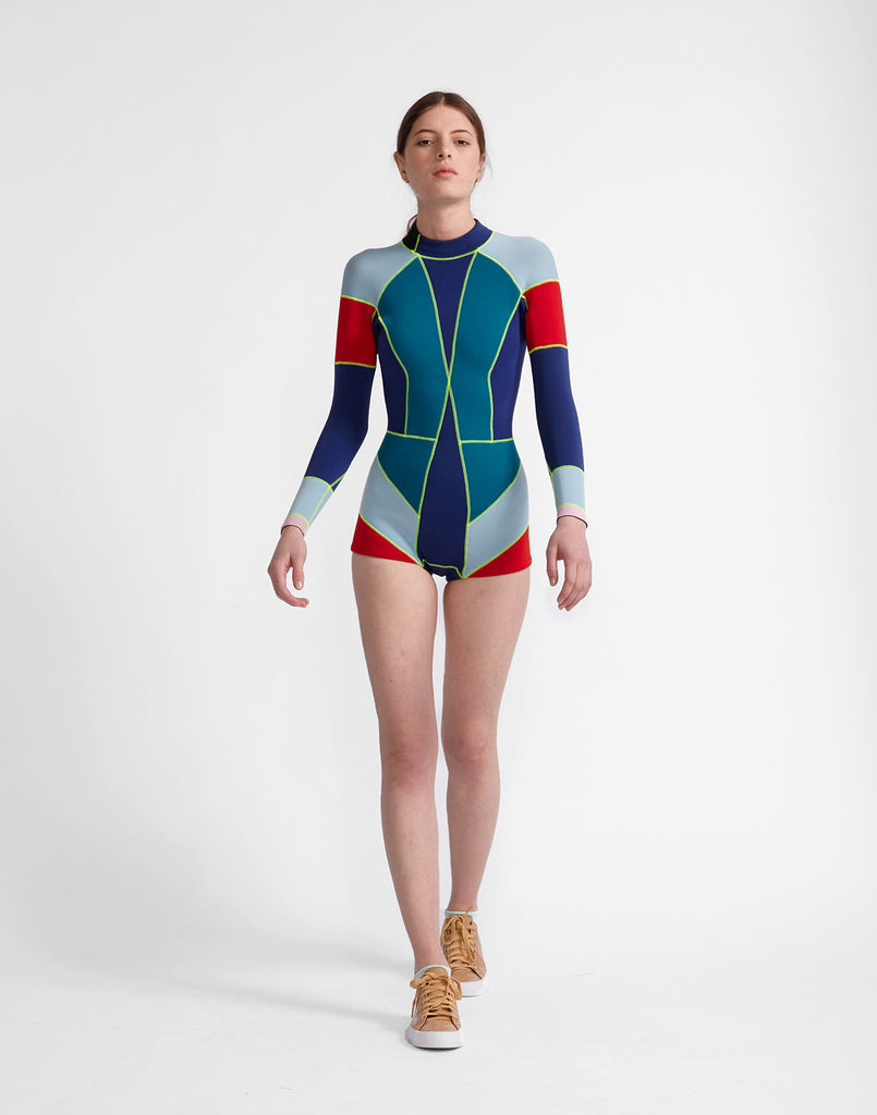 Navy Spruce Combo Colorblock Wetsuit