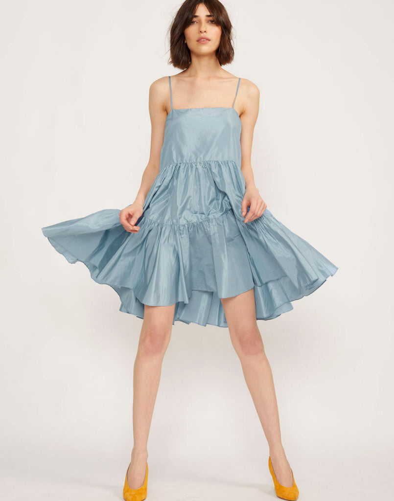 Sky Tiered Swing Dress