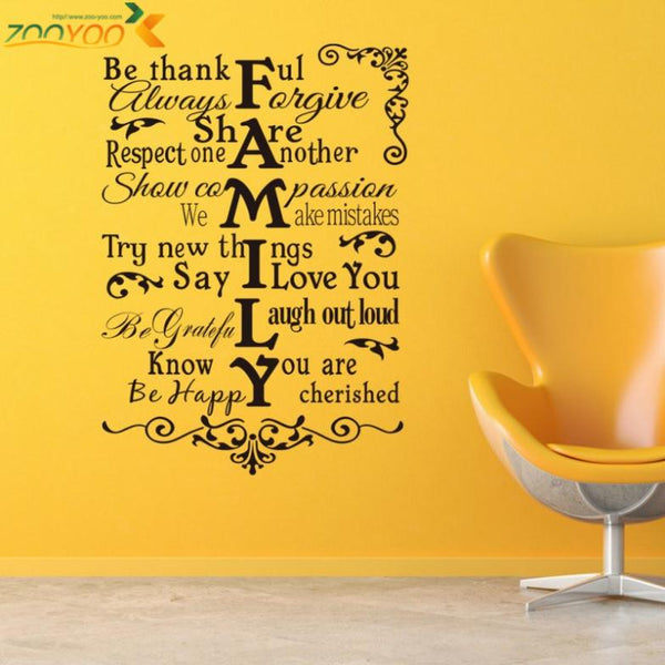 House Rules Decor 3D Removable Vinyl Wall Decals – Anna Greyson\'s Attic