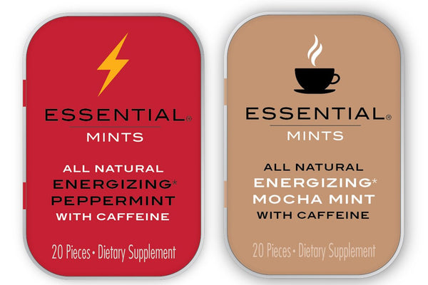 Essential Gamer Pack - 4 Pack (2 Peppermint and 2 Mocha Tins = Total 1600mg Caffeine)