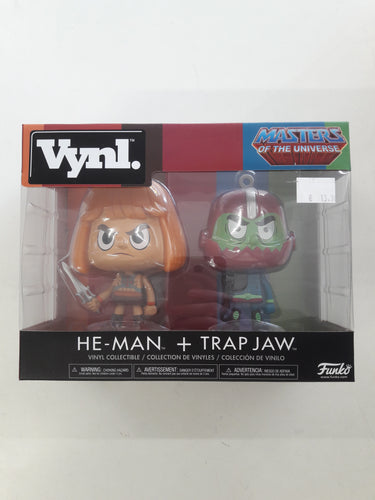 Masters Of The Universe He-Man + Trap Jaw Funko Vynl.