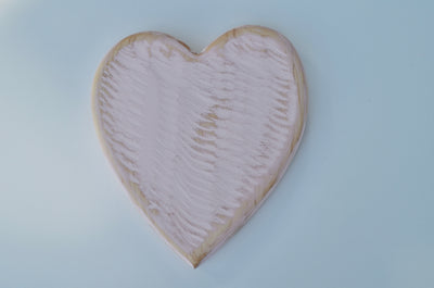 Pink Heart Cutting Board handcrafted from Eastern Hard Maple