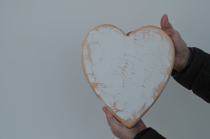 PREORDER: White Heart Serving Board handcrafted from Poplar wood