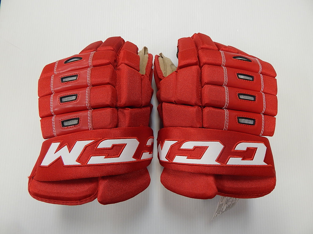 "14"" CCM 4 Roll Gloves – DETROIT REDWINGS"
