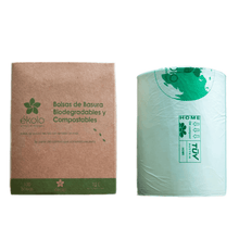 (PACK X 100) BOLSAS DE BASURA BIODEGRADABLES Y COMPOSTABLES 12 L by Ékolo