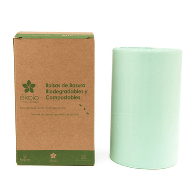 (PACK X 50) BOLSAS DE BASURA BIODEGRADABLES Y COMPOSTABLES 25 L by Ékolo