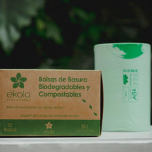 (PACK X 50) BOLSAS DE BASURA BIODEGRADABLES Y COMPOSTABLES 50 L by Ékolo