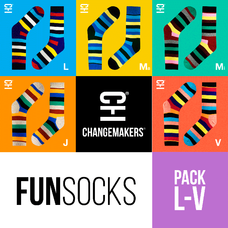(PACK x 5) MEDIAS DIVERTIDAS PARA HOMBRES Y MUJERES FUNsocks by ChangeMarkers - HAF Perú